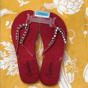 Rhinestone flip-flops multiple sizes and colors!